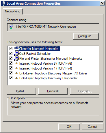 Network Location Cannot be Reached - solution