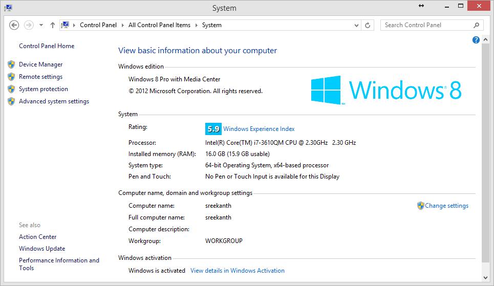 system 100 disk windows 8