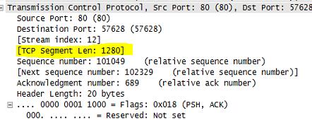 TCP Segment Length